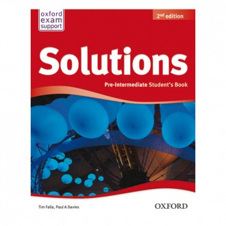 Naslovnica: SOLUTIONS 2nd ED PRE-INTERMEDIATE SB