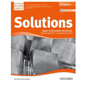 Naslovnica: SOLUTIONS 2nd EDITION, UPPER-INTERMEDIATE WORKBOOK