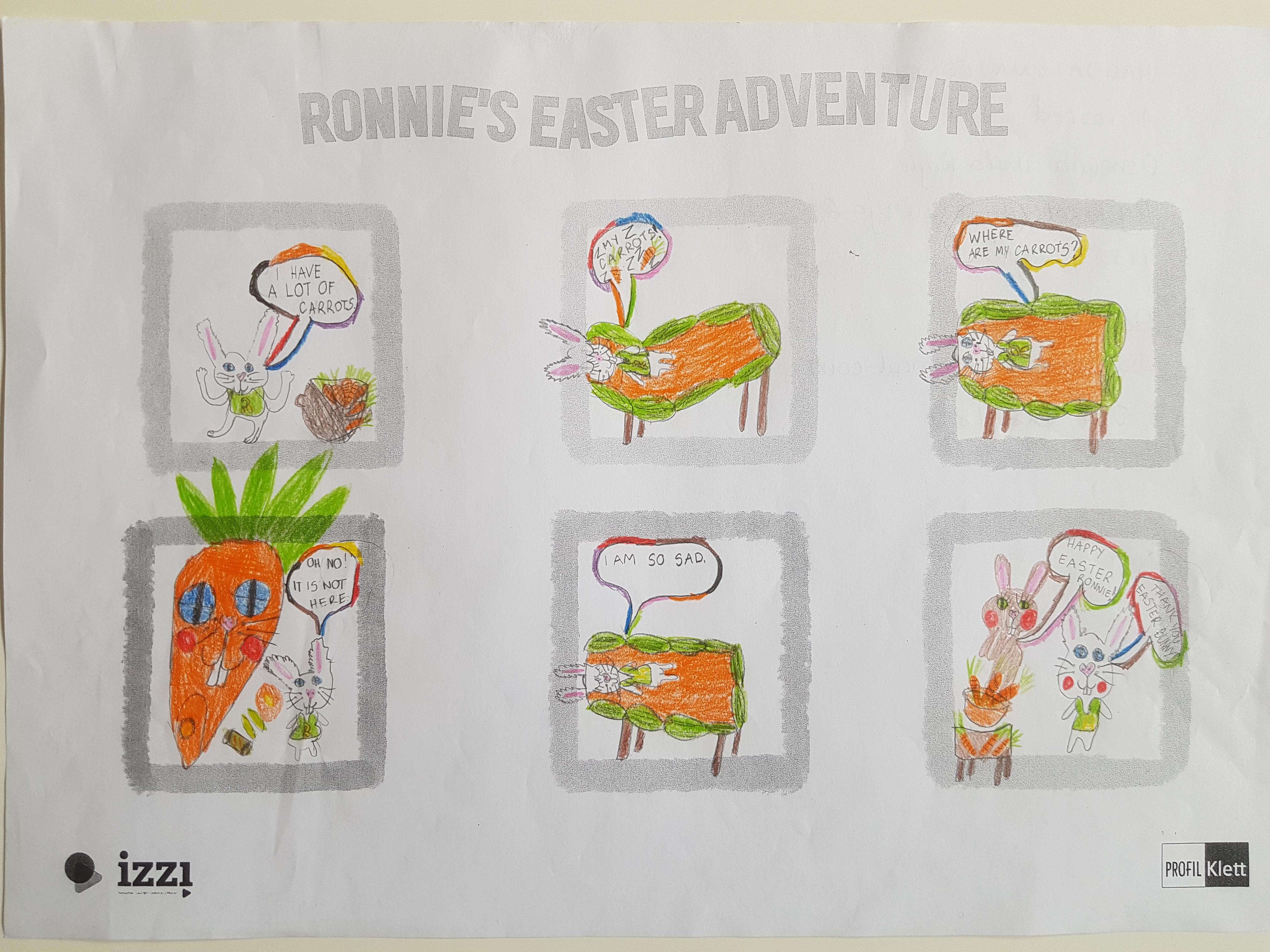 Kroz natječaj učenici pomažu zečiću Ronnieju pronaći izgubljenu mrkvu.