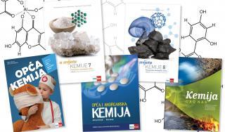Odabir udžbenika iz kemije koje autorski ili urednički potpisuje profesorica Mira Herak