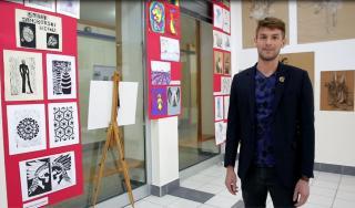 Slaven Jurić, učitelj likovne kulture u OŠ Samobor, predstavlja izložbu Sve i svašta