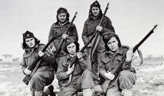 Partizanke na Visu, 1944.