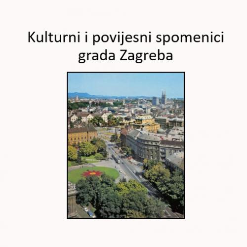 Kulturni I Povijesni Spomenici Grada Zagreba Profil Klett