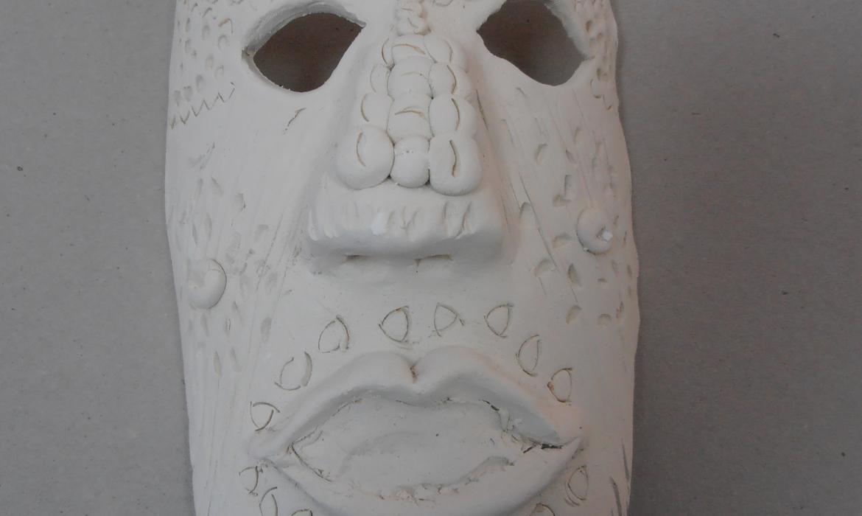 Maska od bijele gline