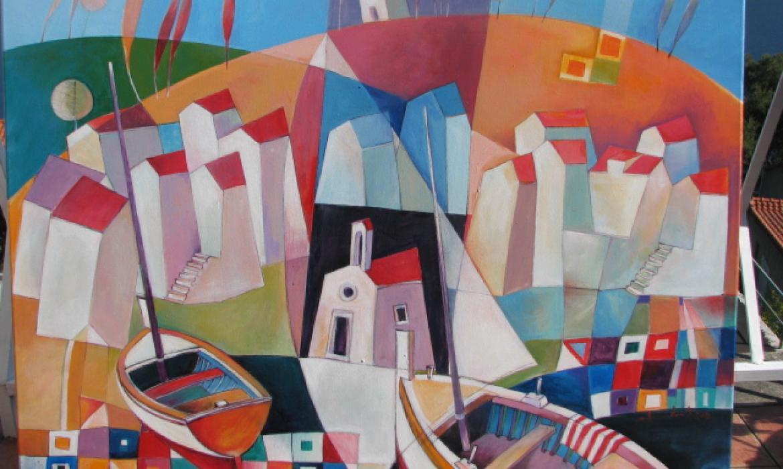 U svom likovnom izričaju A. Brčić zadržao je kolorit juga kojem pripada, ali i dozu tradicionalnoga figurativnog štafelajnog slikarstva s primjesama modernog doba