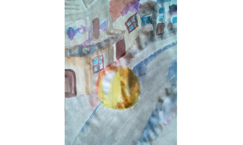 Radićeva ulica u karlovačkoj Zvijezdi - akvarel