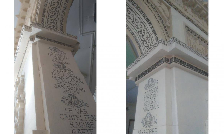 Detalji friza i pisma