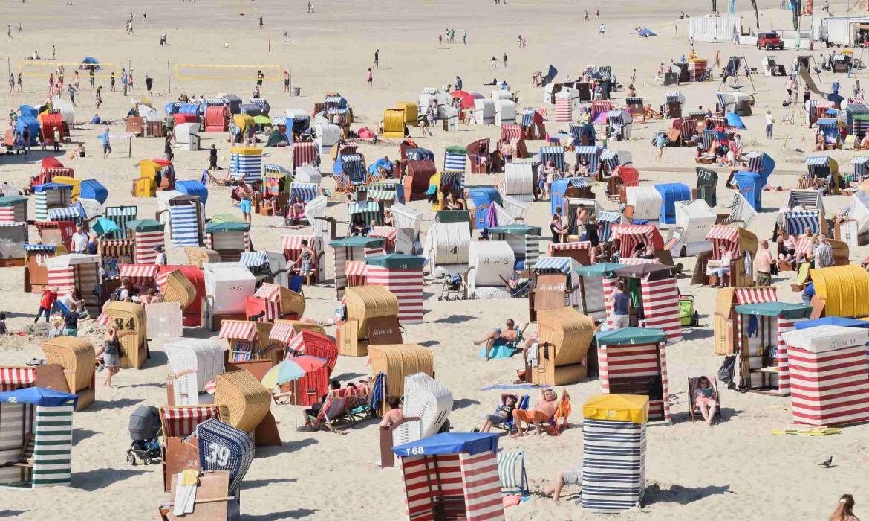 Plaža na otoku Borkum, Njemačka