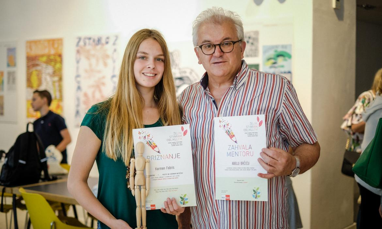 Karmen Fabris, 8. razred, OŠ Petra Kanavelića, Korčula i mentor Abel Brčić; foto: Sanjin Kaštelan