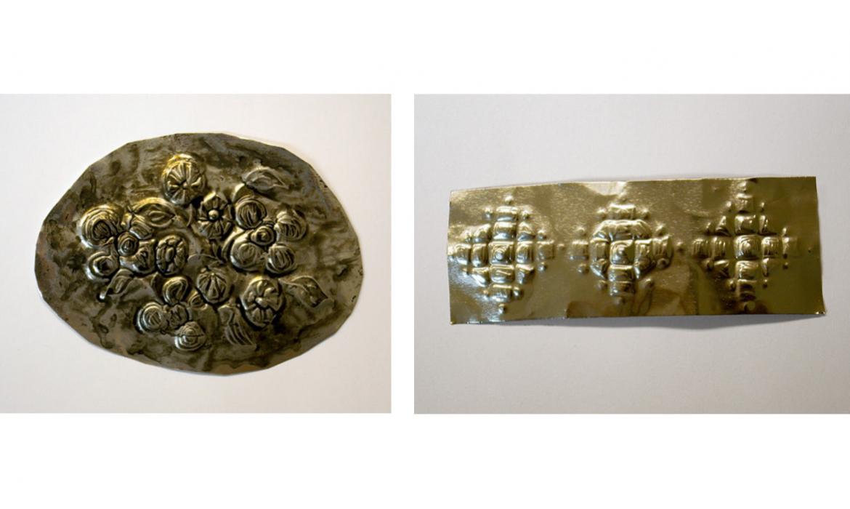 Motivi za dizajn škrinje/kutije izvedeni u plitkom reljefu, aluminijska folija