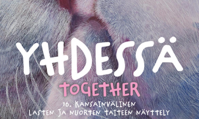 """Plakat izložbe i likovnog natječaja """"Zajedno"""" u organizaciji finskog Kulturnog centra za djecu i mlade Villa Arttu"""