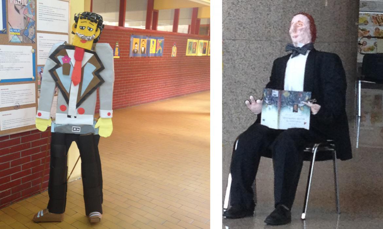 1. Figura Antuna Mihanovića za dan škole, oblikovanje kartonom i kolažiranje; 2. Lutka Hansa Kristijana Andersena povodom obljetnice, izložena u NSK u Zagrebu, oblikovanje kaširanjem, šivanjem; radovi Likovne sekcije