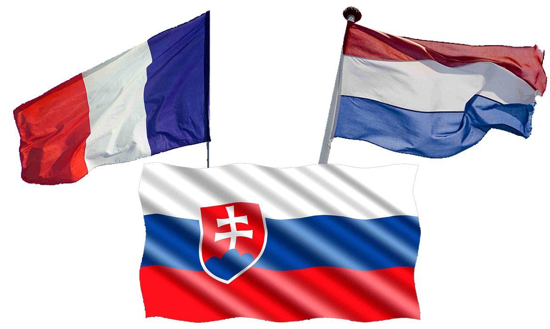 Zastave Francuske, Nizozemske i Slovačke