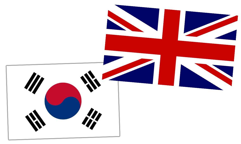 Zastave Engleske i Južne Koreje