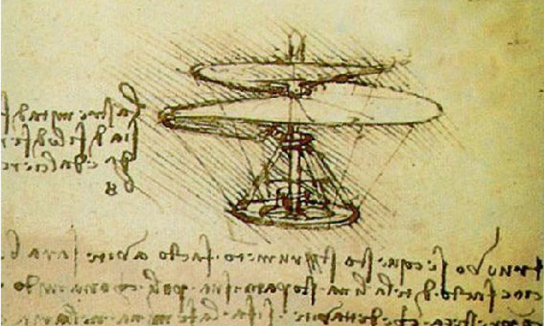 Leonardova skica helikoptera