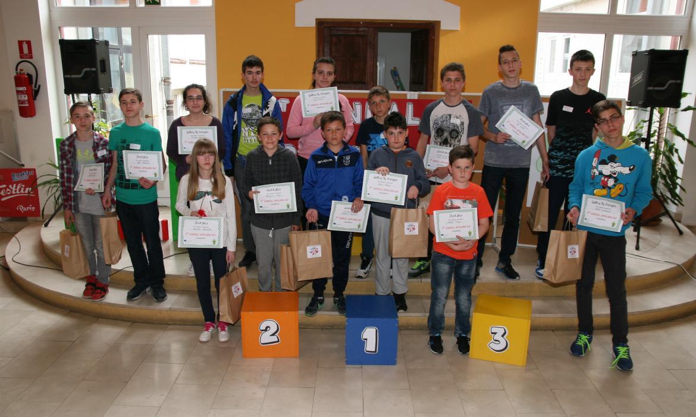 Bjelovarski osnovnoškolci - pobjednici natjecanja u sricanju