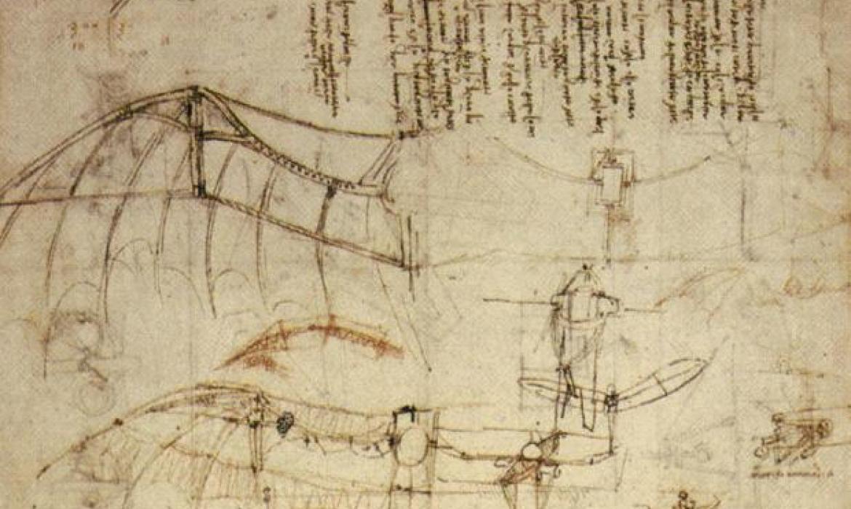 Leonardova skica za leteći stroj iz 1488. godine