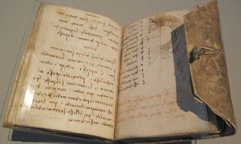 Leonardovi zapisi uvezeni u bilježnicu