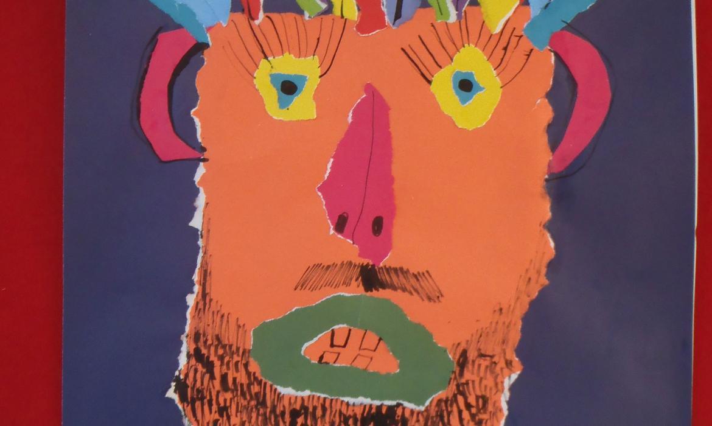 Maska od kolaž-papira