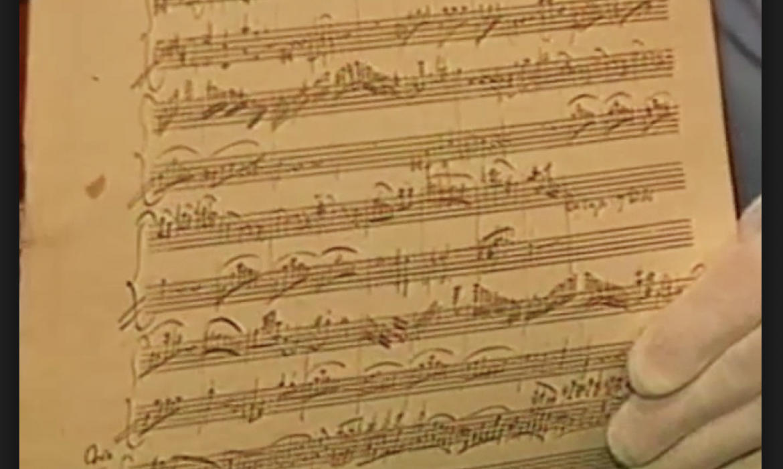 rukopis Mozartove sonate K 331