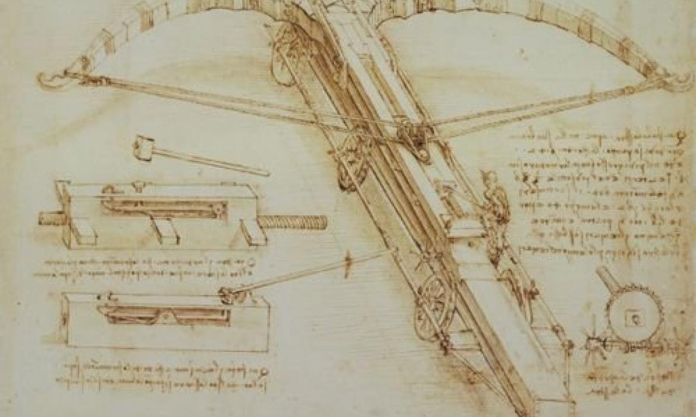 Skica jedne od da Vincijevih naprava