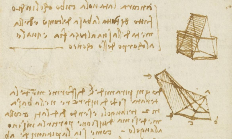 Stranica iz Leonardovih zapisa o geometrijskim tijelima