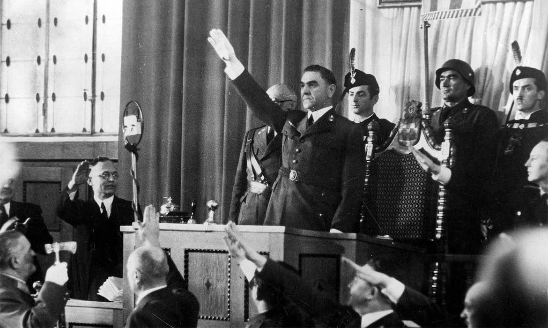 Pavelić u Saboru, veljača 1943.