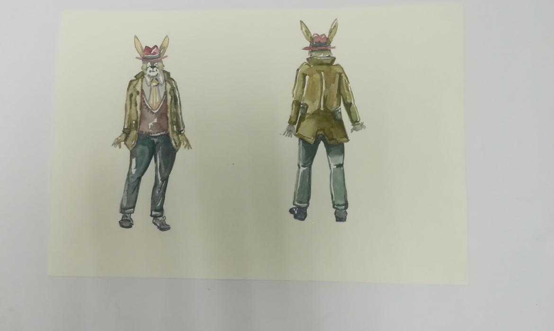 Skica za animaciju, M. A. Cinotti